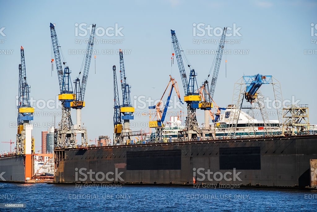 Dock with cranes royalty-free stock photo