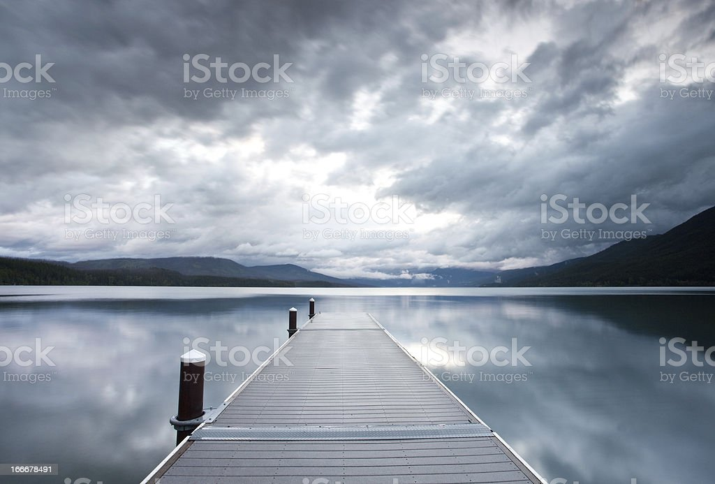 Dock With Storm Clouds stock photo