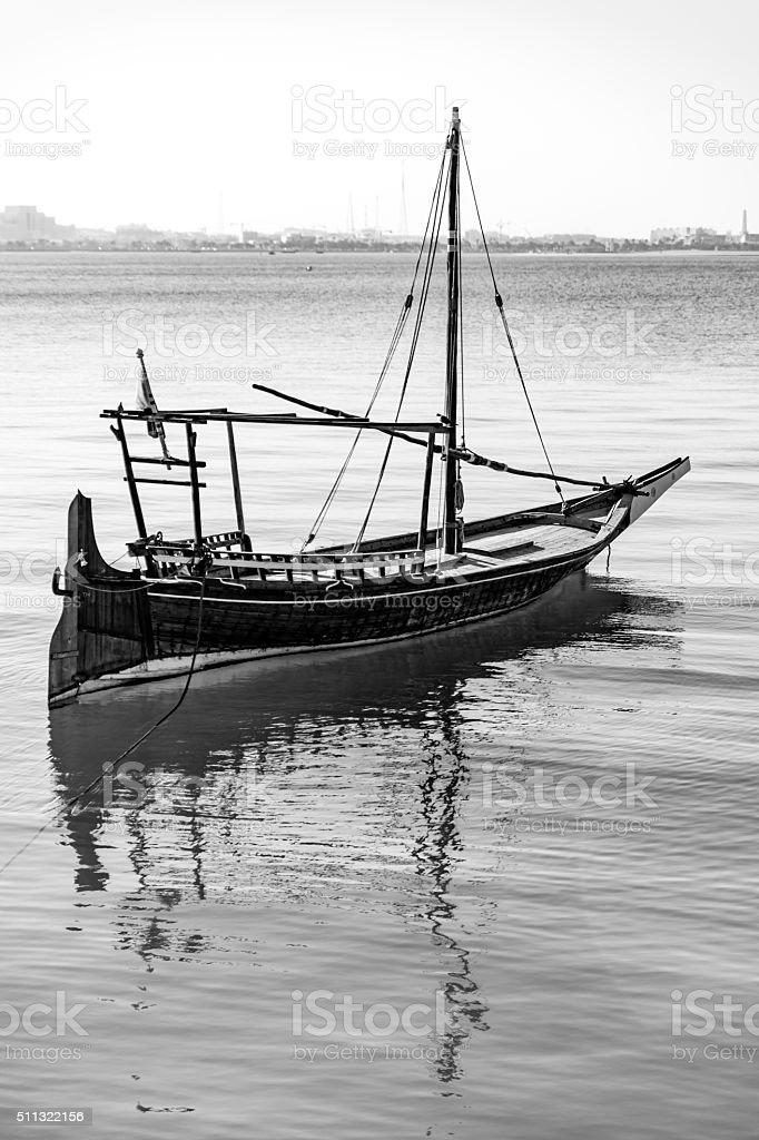 Docked boat stock photo