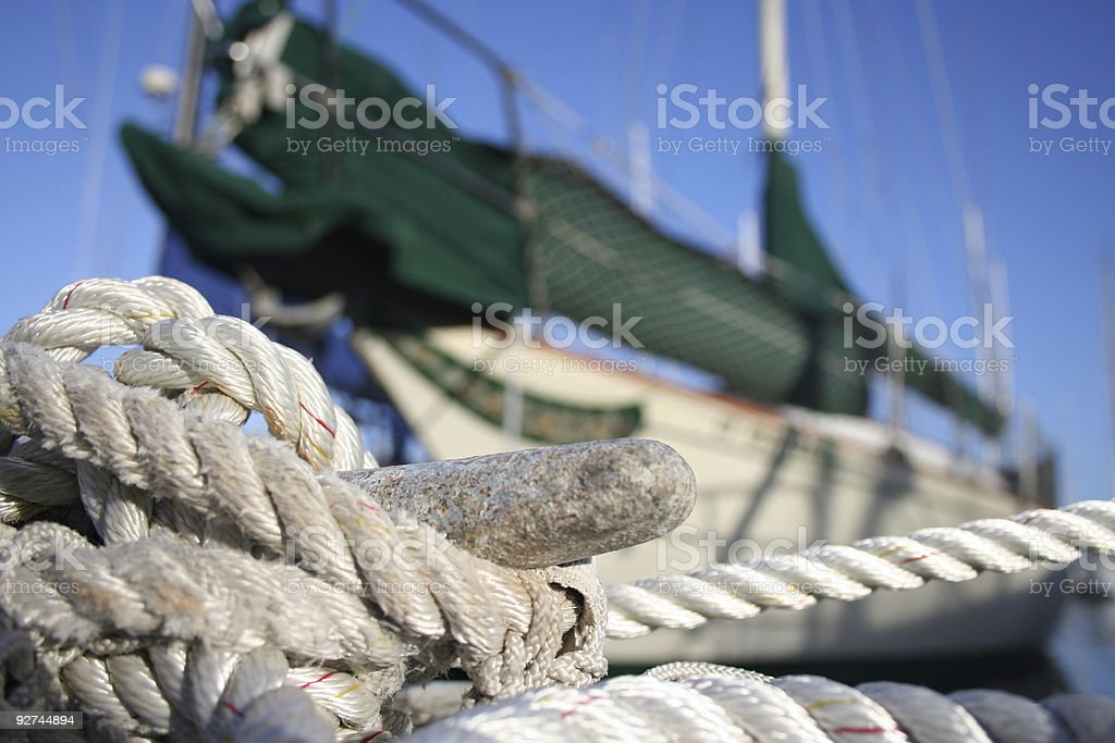 Docked Boat royalty-free stock photo