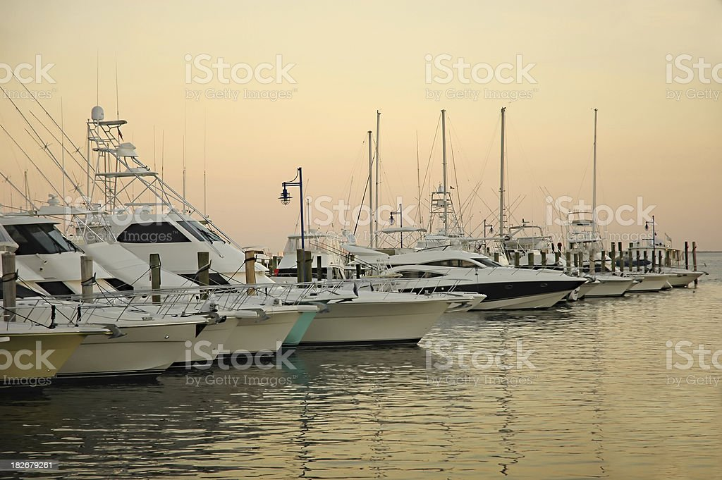 docked boats at coconut grove marina royalty-free stock photo