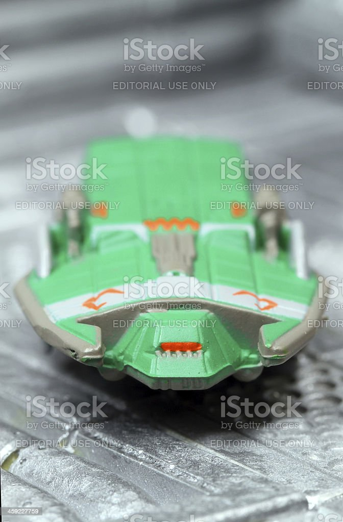 Docked Freighter in the Future royalty-free stock photo