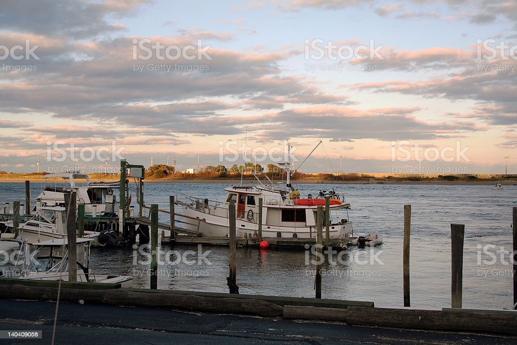 Docked House Boats royalty-free stock photo