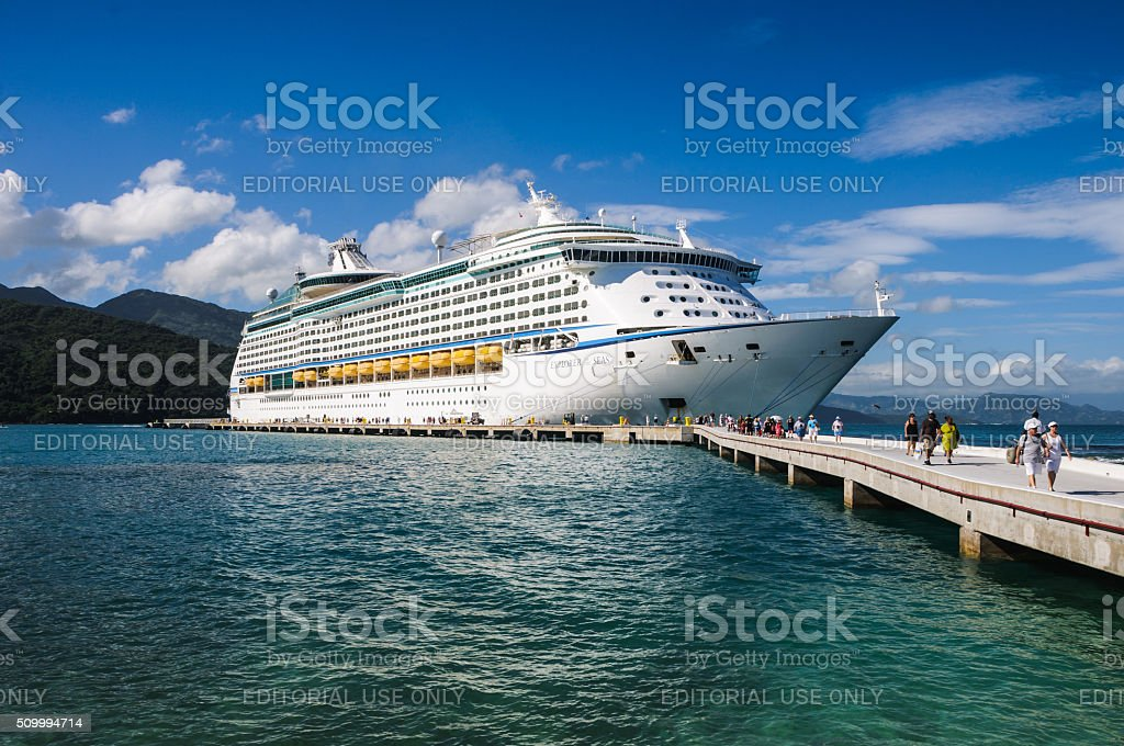 Docked in Labadee stock photo