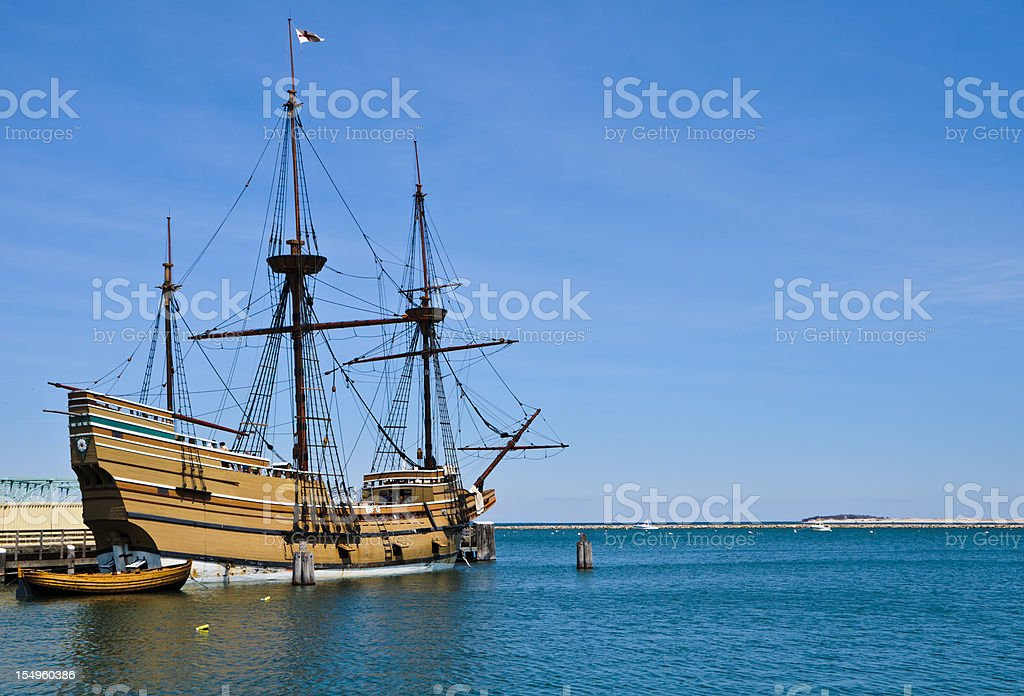Docked in Plymouth stock photo