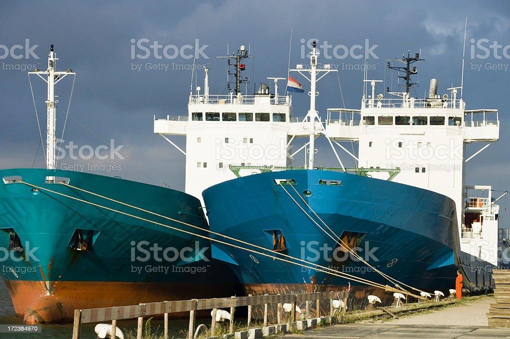 Docked in Rotterdam royalty-free stock photo