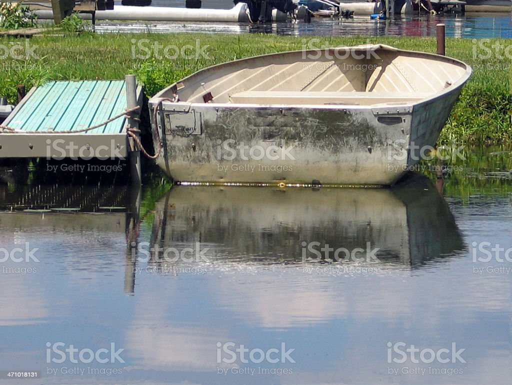 Docked Old Boat royalty-free stock photo