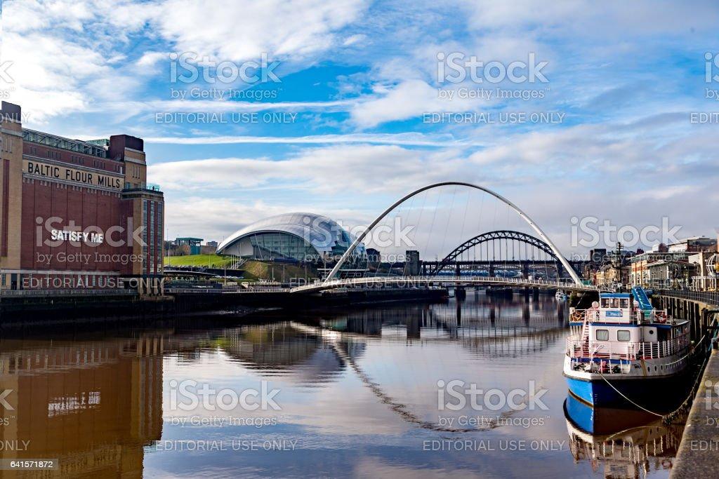 Docked on the Tyne stock photo