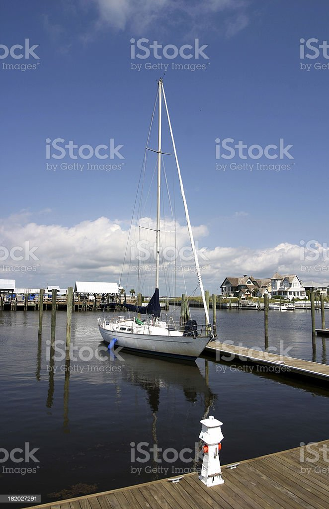 Docked stock photo