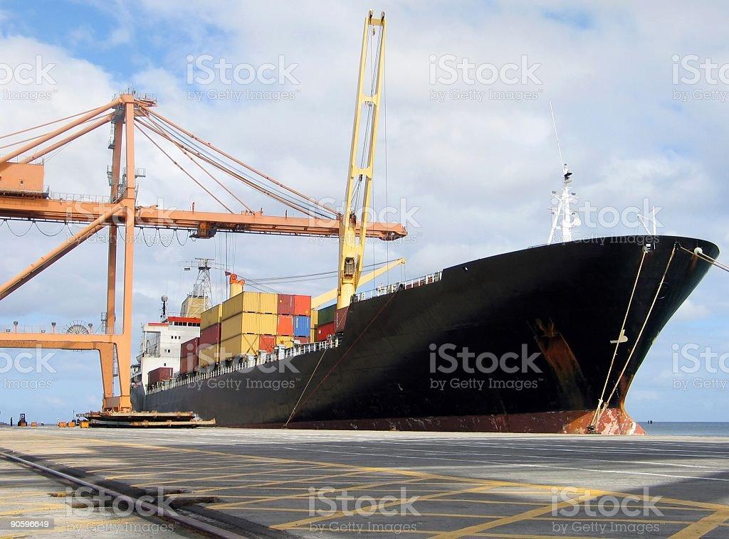 Docked ship royalty-free stock photo