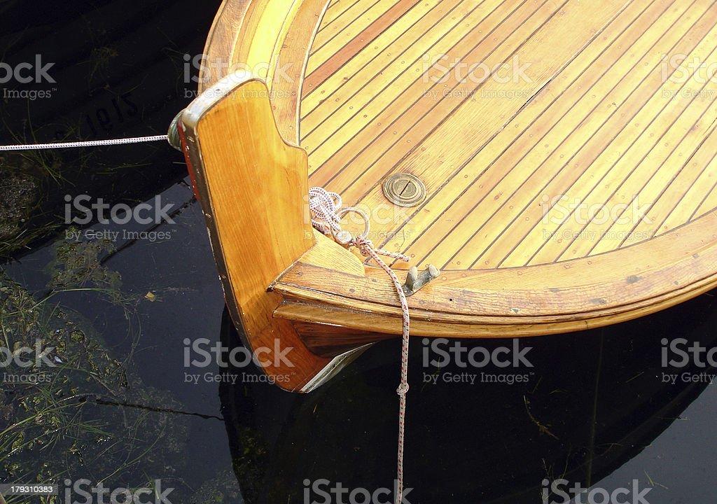 Docked Wooden Boat royalty-free stock photo