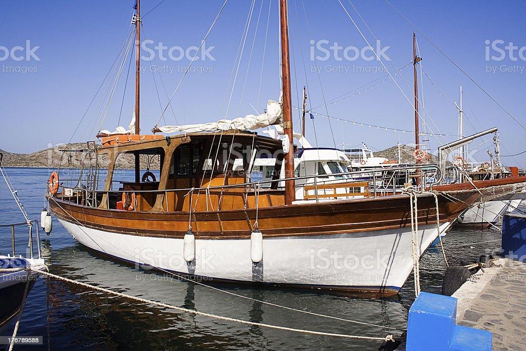 Docked Yacht royalty-free stock photo