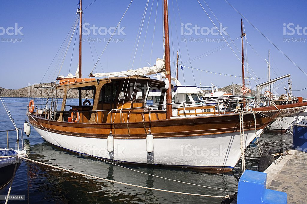 Docked Yacht stock photo