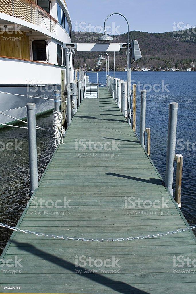 Docked Yacht stock photo