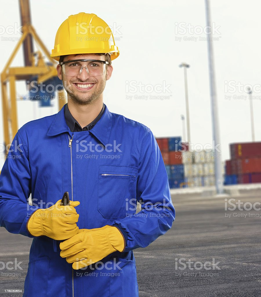 Docker Holding Plier royalty-free stock photo