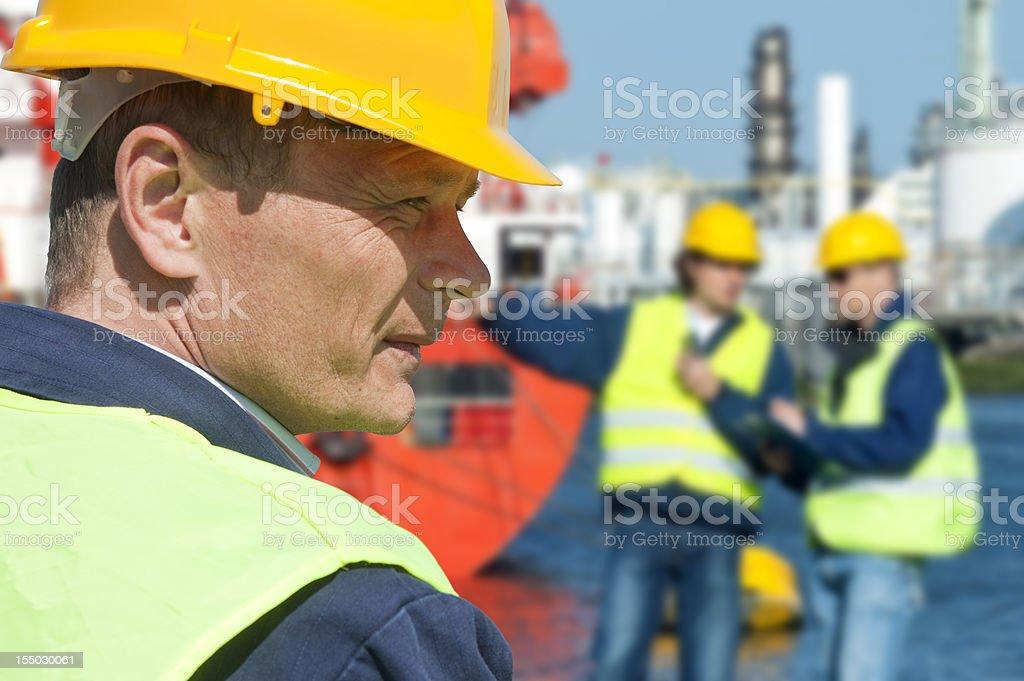Dockers portrait royalty-free stock photo