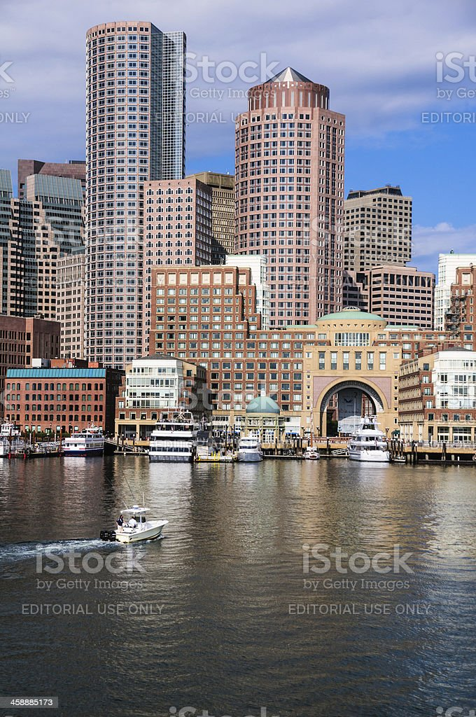 Docking at Rowes Wharf royalty-free stock photo