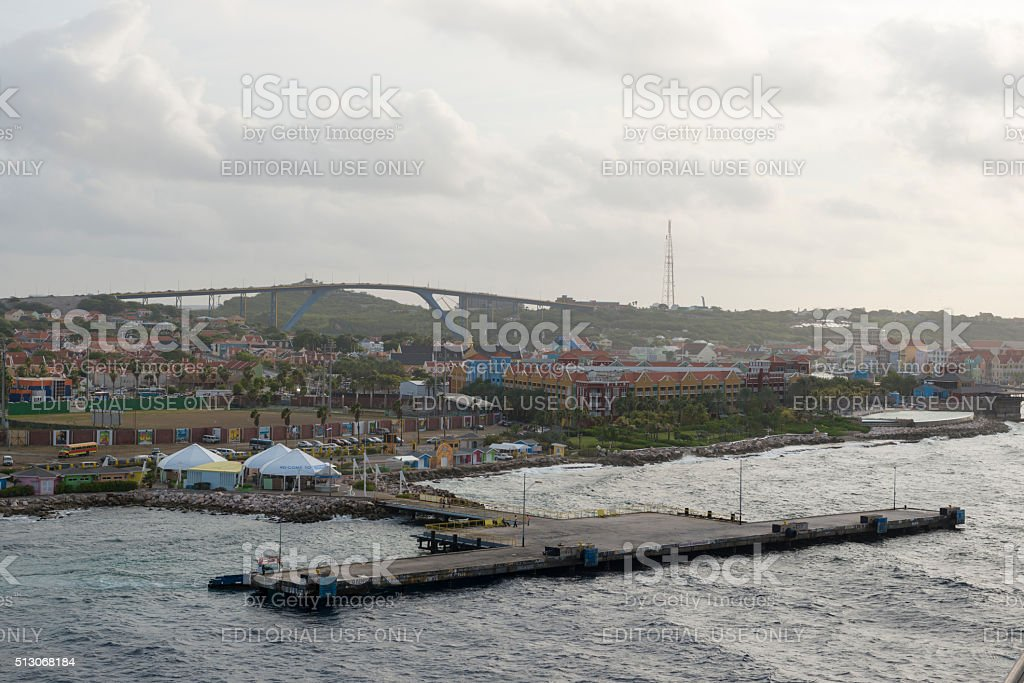 Docking in Willemstad, Curacao stock photo