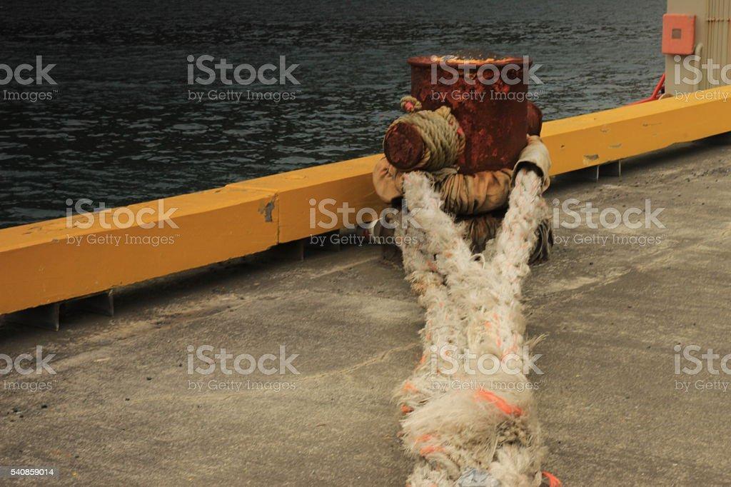 Docking rope stock photo