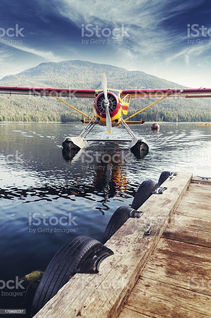 Docking Seaplane stock photo