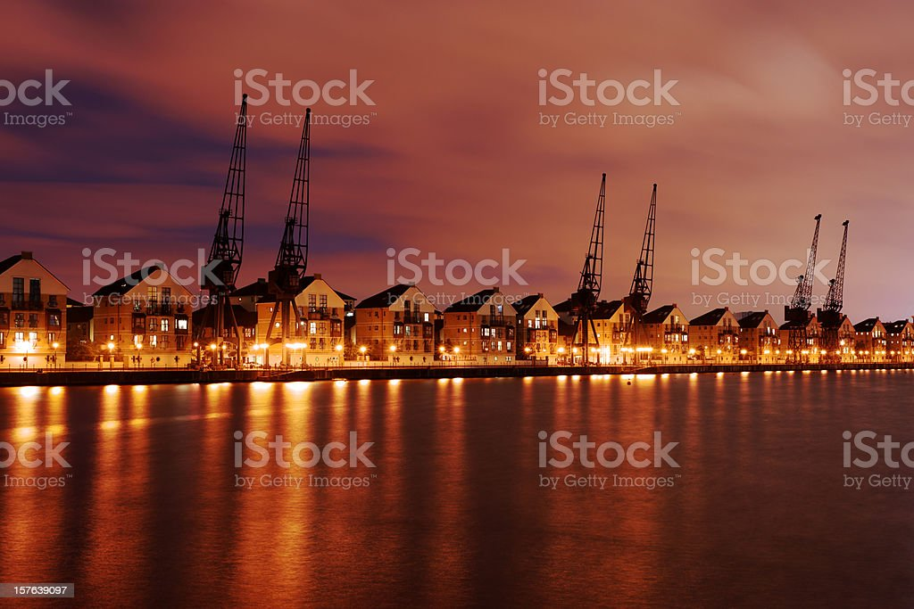 Dockland crane stock photo