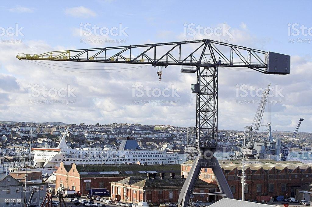 Dockland Crane royalty-free stock photo