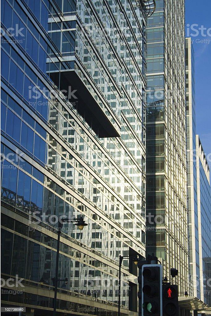 Dockland street stock photo