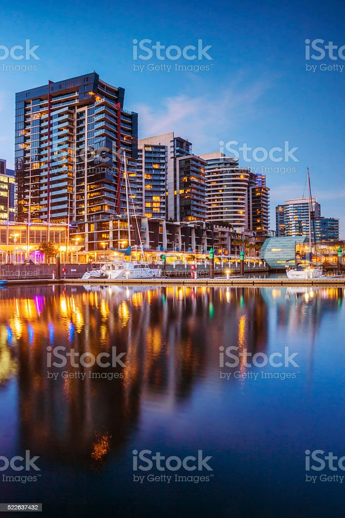 Docklands Apartments, Melbourne stock photo