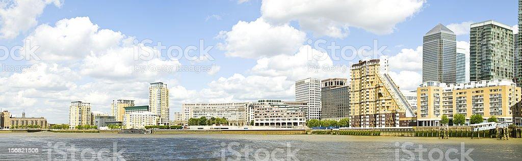Docklands - Canary Wharf London stock photo