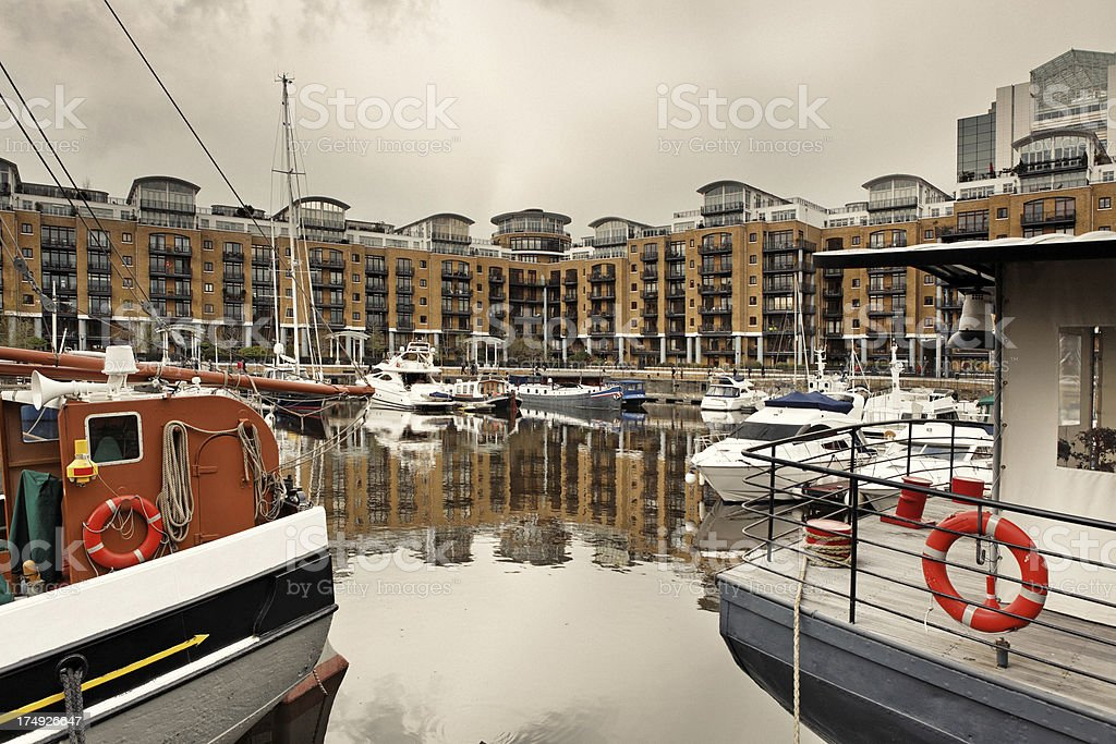 Docklands in London royalty-free stock photo