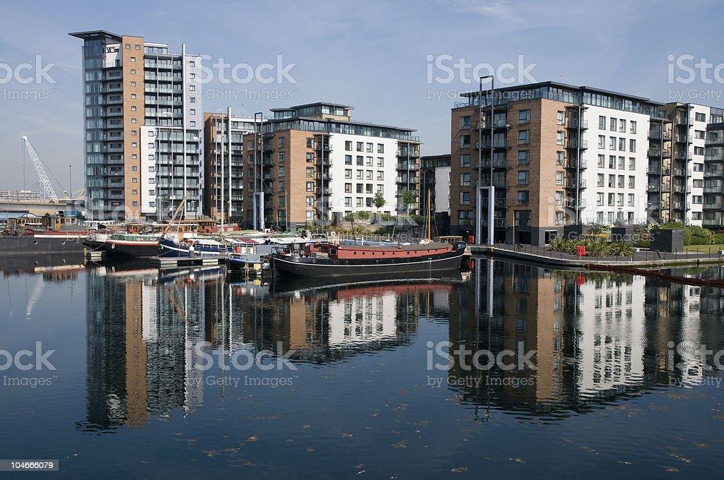 Docklands London England UK stock photo