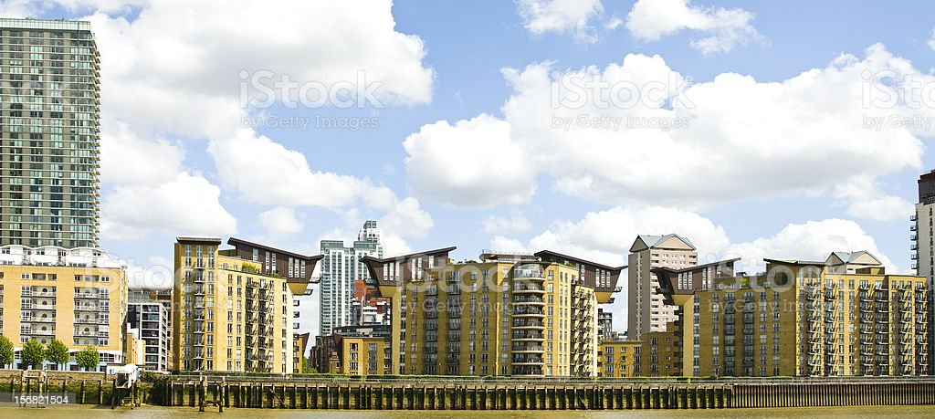 Docklands London stock photo