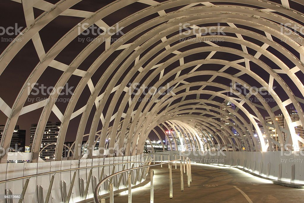 Docklands, Melbourne, Webb Bridge royalty-free stock photo