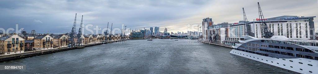 Docklands Panorama stock photo