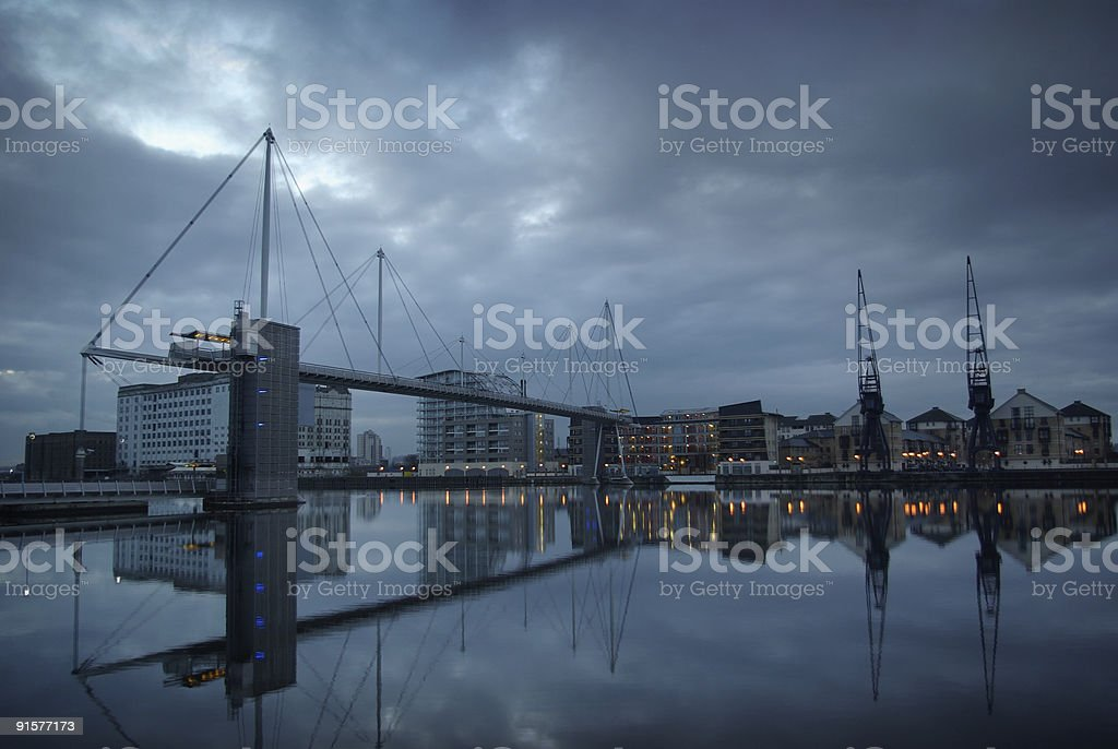 Docklands reflection royalty-free stock photo