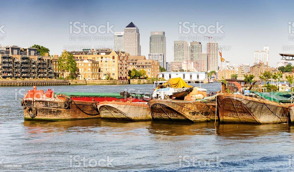 Docklands skyline stock photo