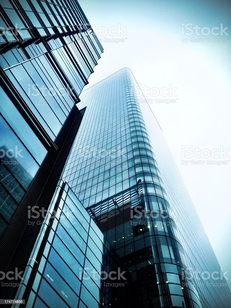 Docklands skyscraper royalty-free stock photo