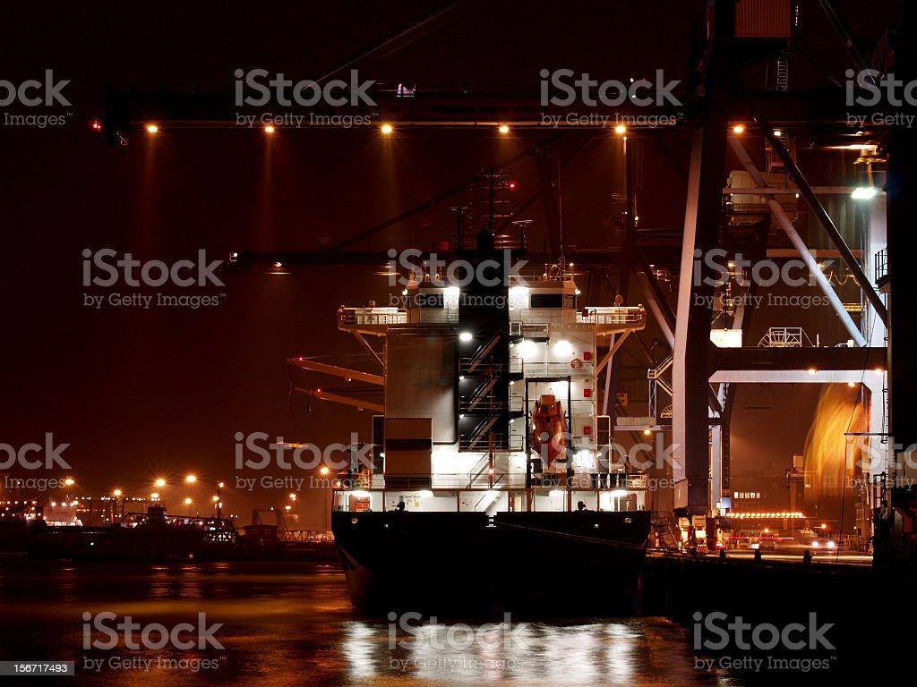 Docks At Night stock photo