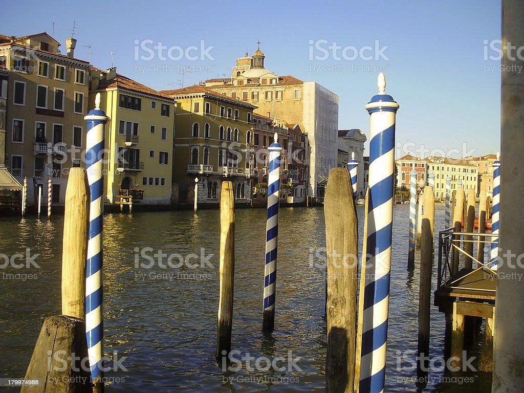 Docks in Venice, Italy royalty-free stock photo