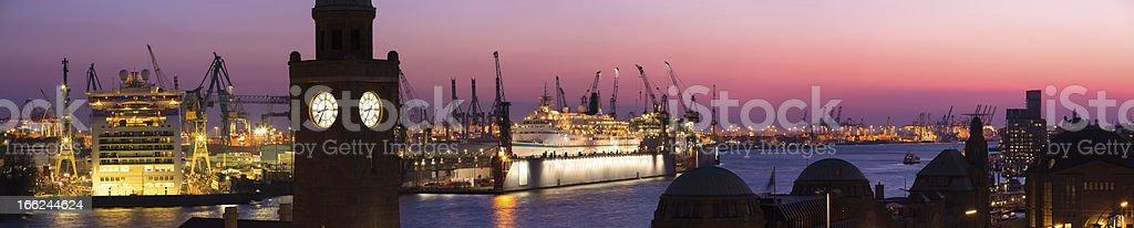Docks of Blohm + Voss stock photo