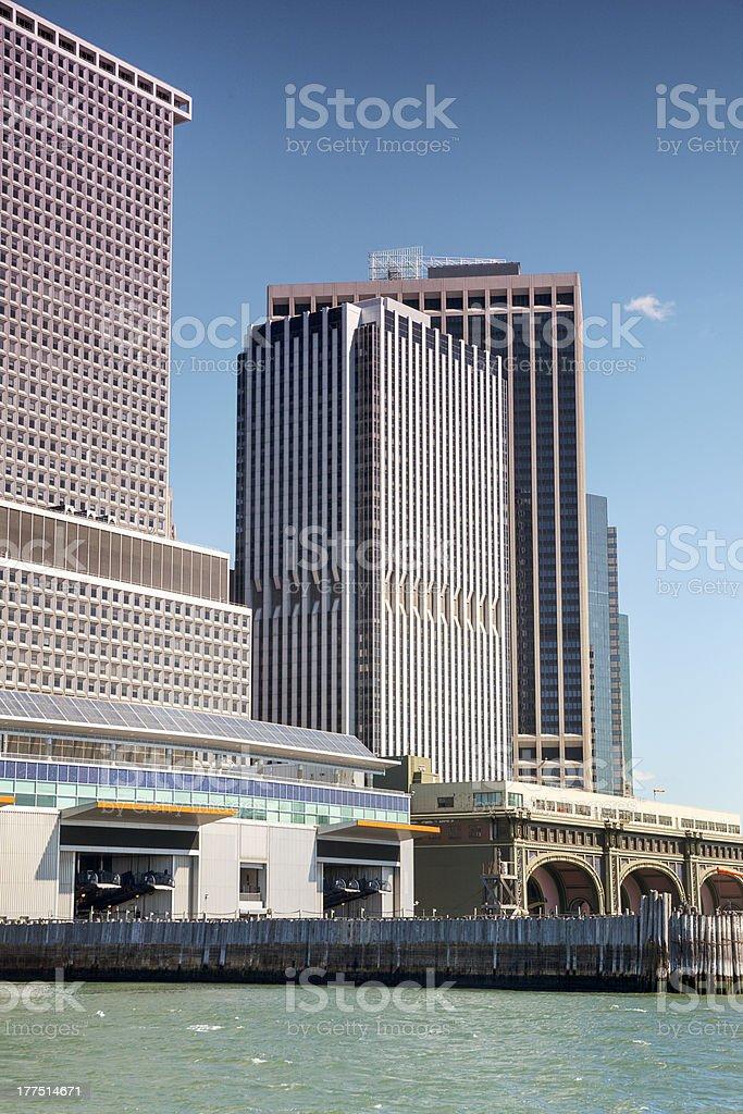 Docks of NYC, USA royalty-free stock photo