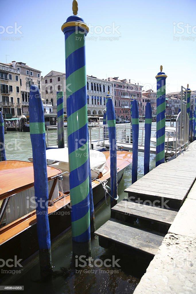 Docks of Venice with boats royalty-free stock photo