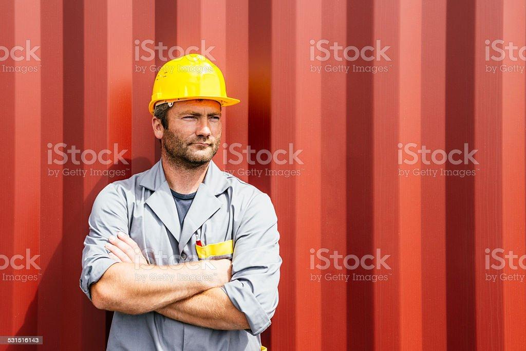 Docks Worker stock photo