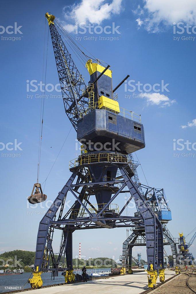 Dockside Cranes royalty-free stock photo