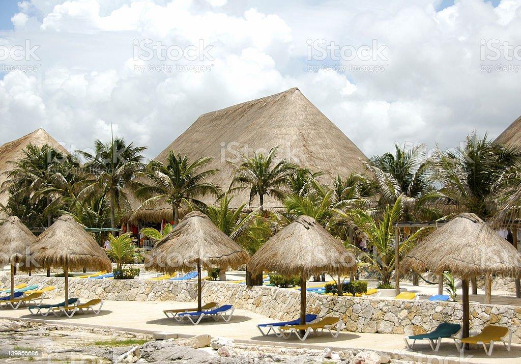 Dockside In Cozumel stock photo