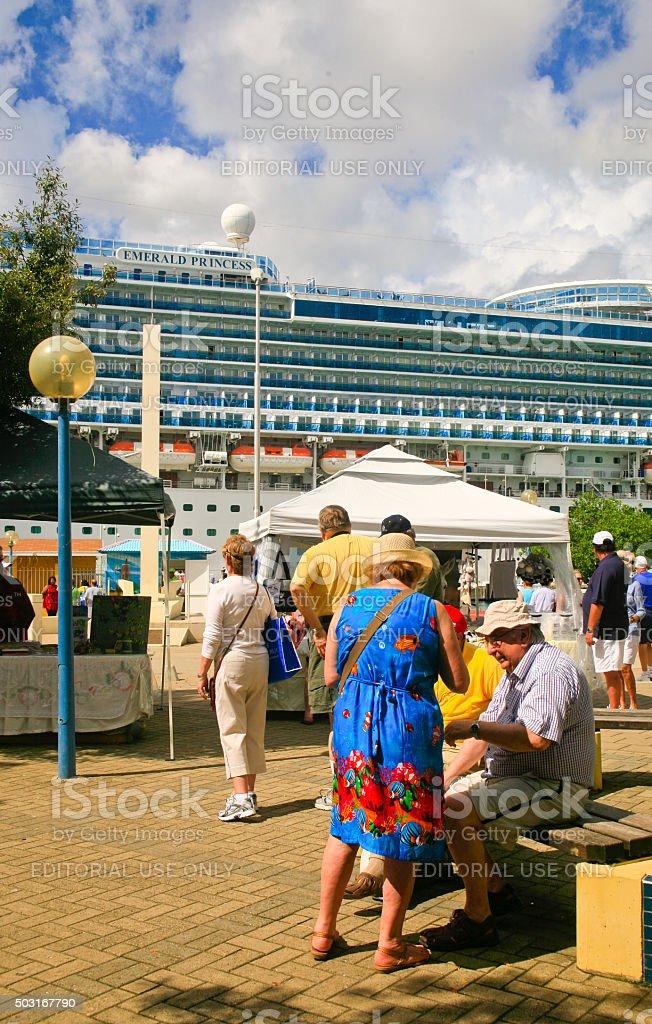 Dockside Market, Kralendijk, Bonaire stock photo
