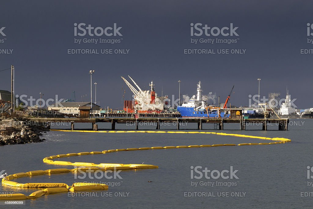 Dockside Spill royalty-free stock photo