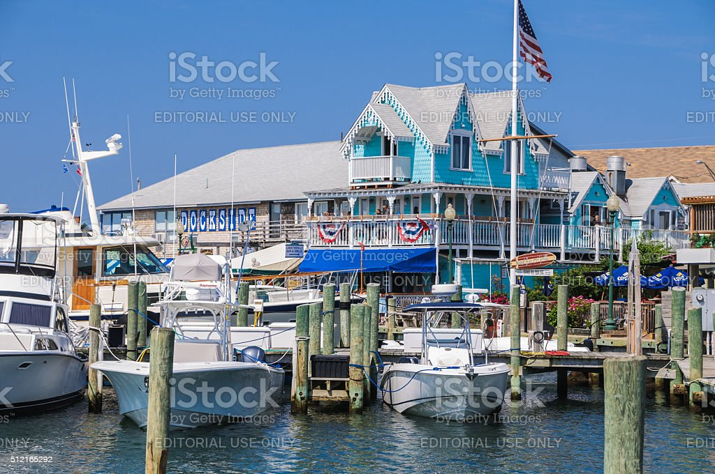 Dockside-Martha's Vineyard stock photo