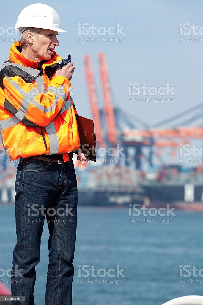 Dockworker royalty-free stock photo