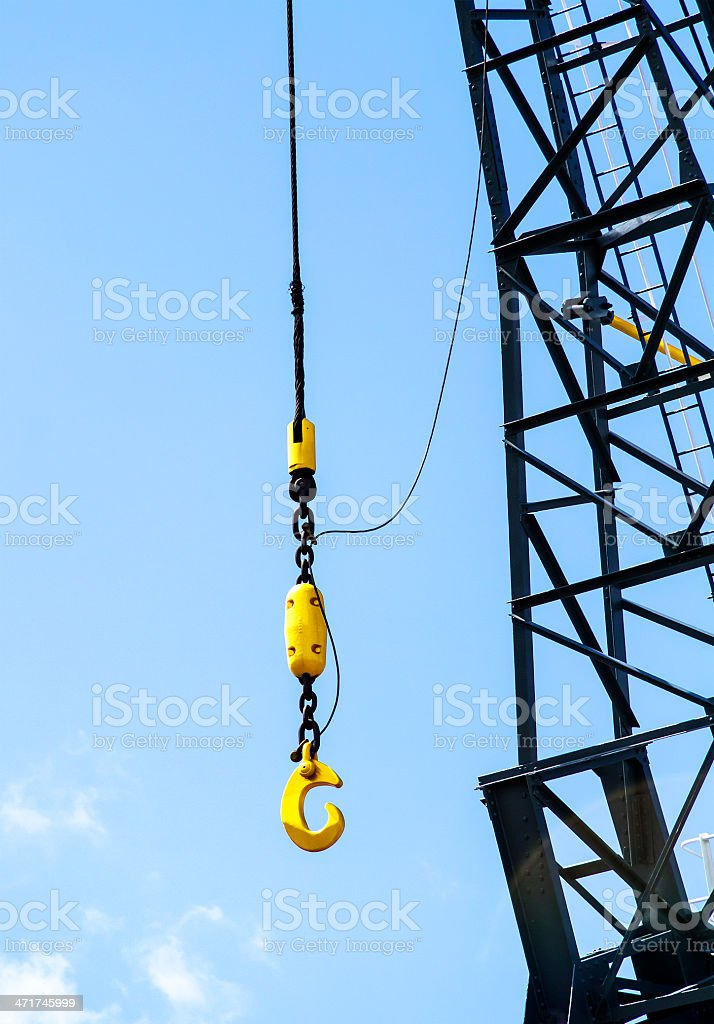 Dockyard crane royalty-free stock photo